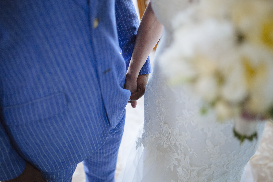 Bride and groom pictures, holding hands picture, key west wedding