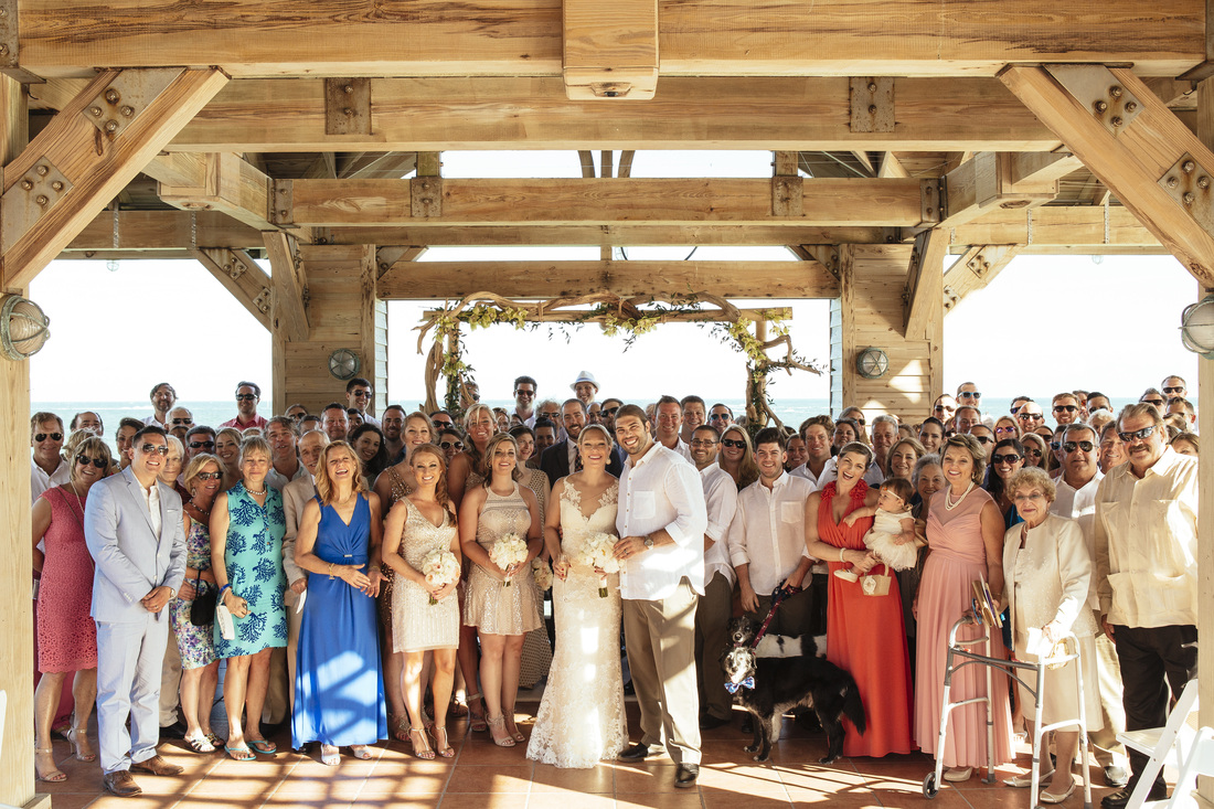 the reach hotel, key west wedding ceremony, key west wedding photographers, key west photographers, wedding photography in key west, destination wedding pictures, ceremony, bride and groom, florida keys weddings, formal group picture, large group of weddings,