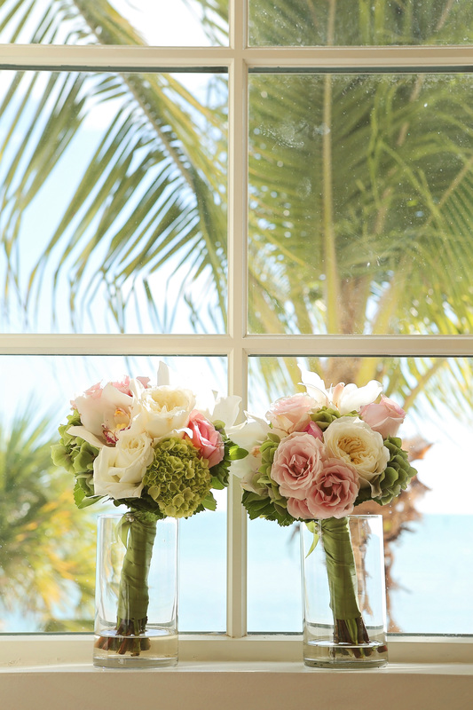 casa marina resort, casa marina wedding picture, beach wedding, bride and groom, asian wedding, florida keys wedding, wedding inspiration picture, wedding bouquet picture