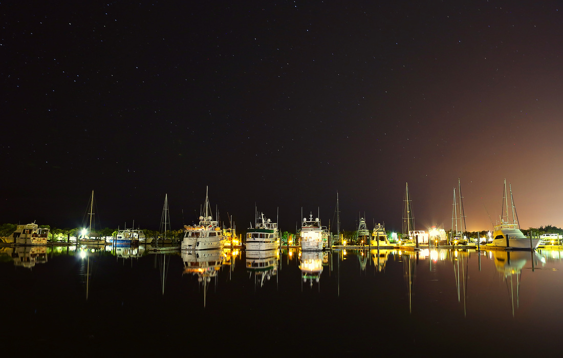 night photography, key west each club, sound wave, reflection