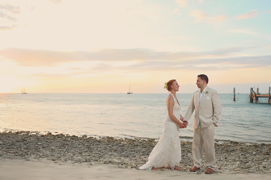 Beautiful Intimate Key West Wedding On A Private Island Sunset Accessible Only By Boat Lorna And David Had The Most Gorgeous Firsthand