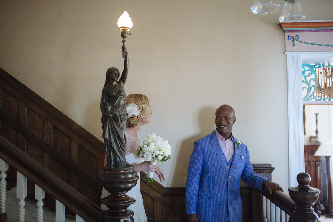 First Look pictures, southernmost house wedding