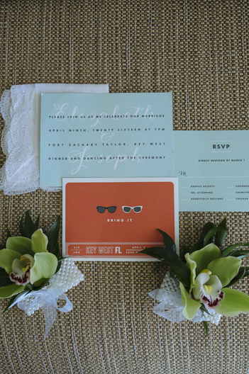 Wedding Invitation Picture, Pier House resort wedding, Stationary