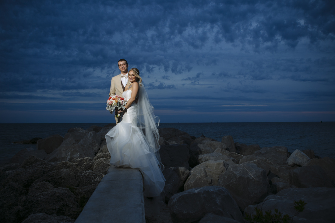 Fort Zachary beach wedding, after the sunset wedding pictures, weddings by romi, key west wedding photographer,