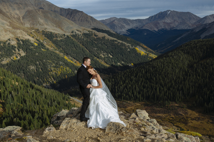 Aspen wedding picture, country wedding