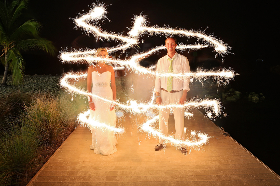 sparklers, night wedding photography,bride and groom, first dance, key west wedding photographer, key west wedding photography, wedding photographer in key west, destination wedding photographer, night photography, wedding, yacht club wedding,