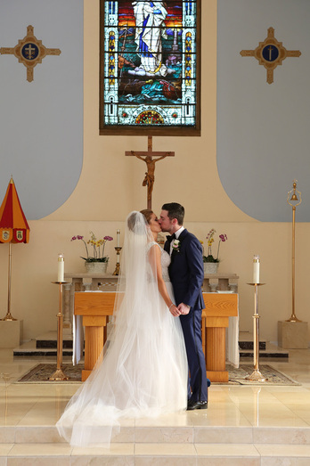 St. Mary's church Picture, ceremony in the church photo, bride and groom getting married,
