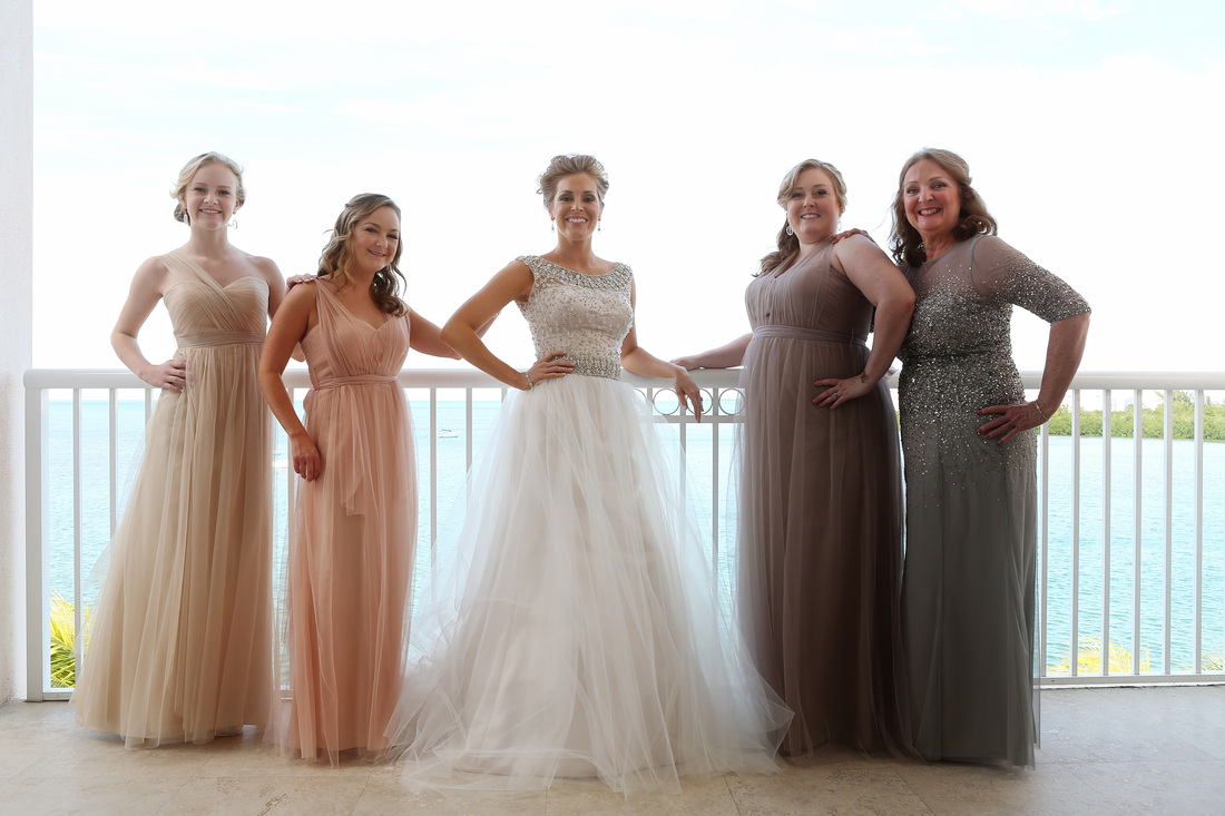 Bride and Bridesmaids Picture
