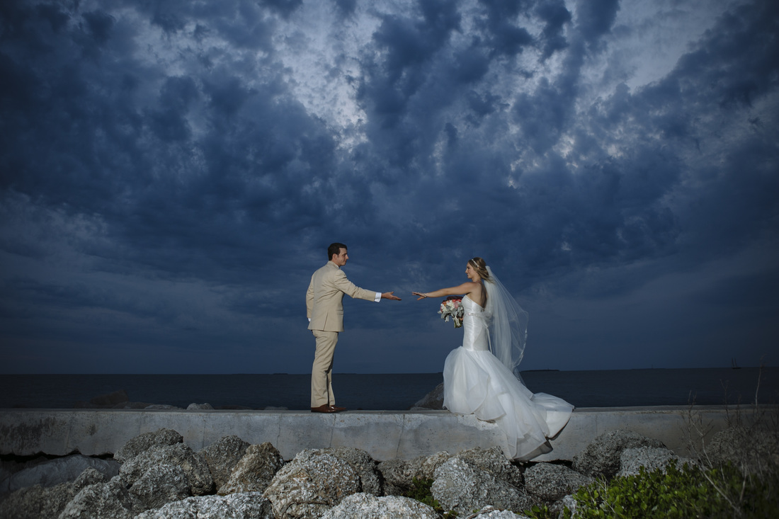 weddings by romi, wedding decor, fort zachary beach, reception pictures, beach wedding destination wedding, key west wedding photographer, bride and groom picture