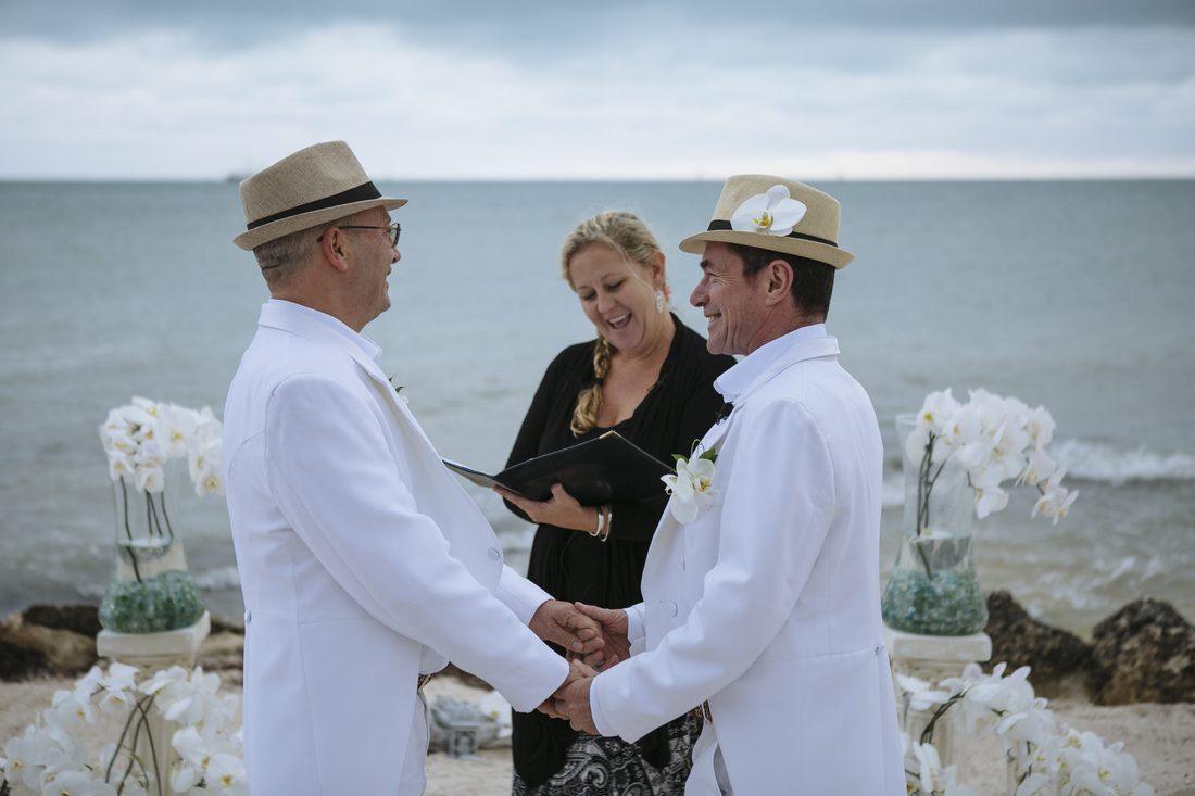 Gay ceremony, beach ceremony, casa marina ceremony site