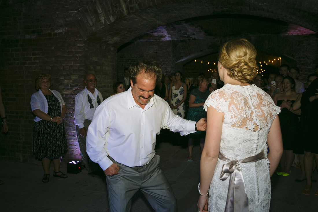 Fort Zachary Taylor Beach ceremony, Fort Zachary Taylor Key West, Beach Ceremony Picture, Key West wedding Photography, Wedding Dance, Reception at the Fort, Father Daughter Dance Picture