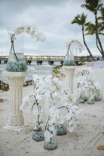 Casa Marina Resort, beach wedding, Casa Marina wedding decoration