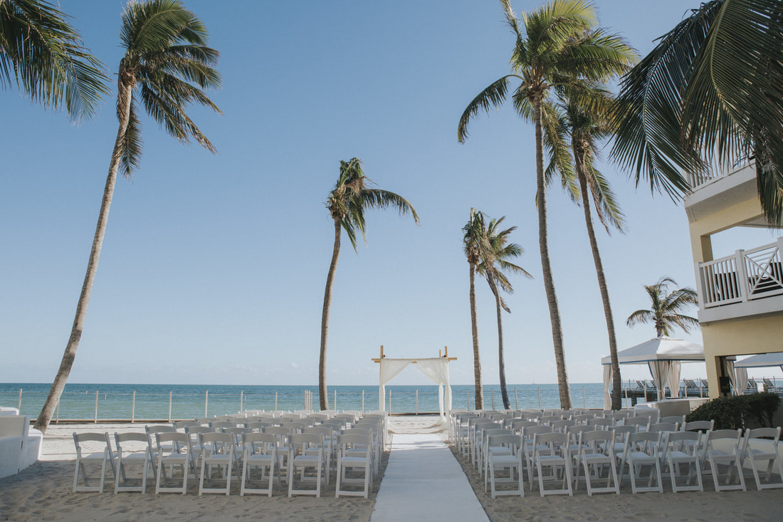 Key West wedding, Southernmost Hotel wedding, Key West wedding photographer, Key West wedding photography, Bride and Groom, beach wedding, ceremony set up, beach ceremony