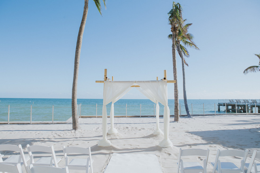 Key West wedding, Southernmost Hotel wedding, Key West wedding photographer, Key West wedding photography, Bride and Groom, beach wedding, ceremony set up